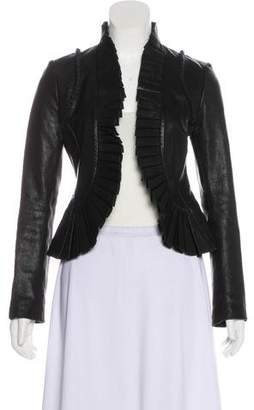 Tory Burch Pleated Leather Jacket