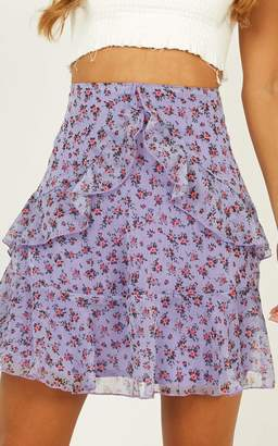 Showpo All So Crazy Skirt In lilac floral - 6 (XS) Mini Skirts