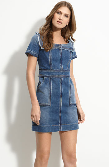 See by Chloé Patched Stretch Denim Dress