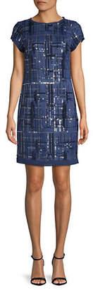 Vince Camuto Sequin-Embellished Sheath Dress