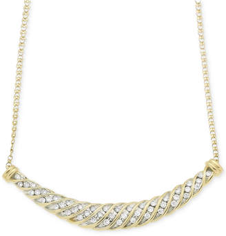 Wrapped in Love Diamond Channel-Set Collar Necklace (1/2 ct. t.w.) in 10k Gold