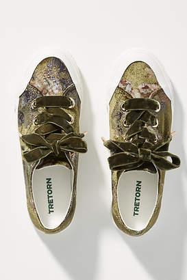Tretorn Floral Velvet Sneakers