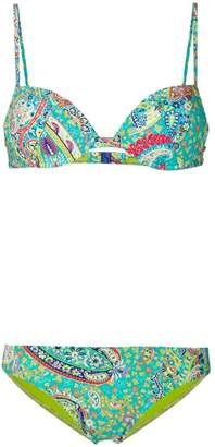 Etro paisley collage bikini