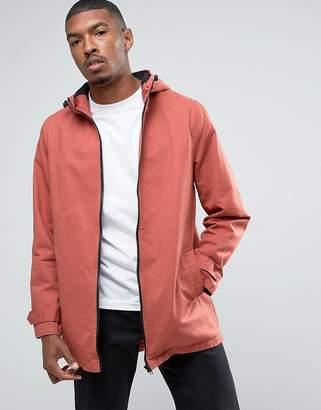 Asos Design Lightweight Parka Jacket in Pink