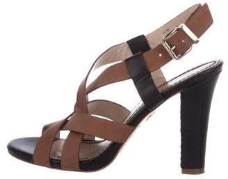 Pour La Victoire Suede Crossover Sandals