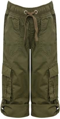 M&Co Poplin roll up trousers