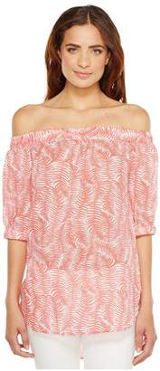 MICHAEL Michael Kors Pella Fern Off Shoulder Top Women's Clothing