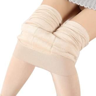 Yoyorule Women Winter Thick Warm Fleece Lined Thermal Stretchy Leggings Pants