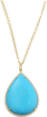 Irene Neuwirth JEWELRY Pear Shape Turquoise Necklace