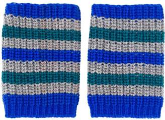 Plan C striped fingerless gloves
