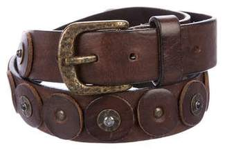 Henry Beguelin Studded Leather Belt