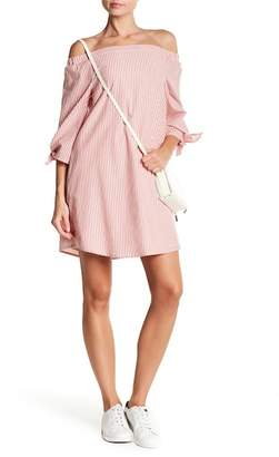 Bobeau B Collection by Susie Striped Off-the-Shoulder Dress