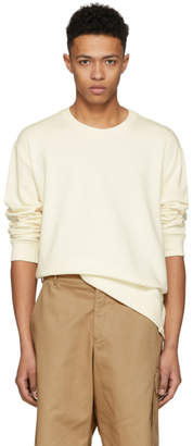 3.1 Phillip Lim Ecru Re-Constructed Sweatshirt