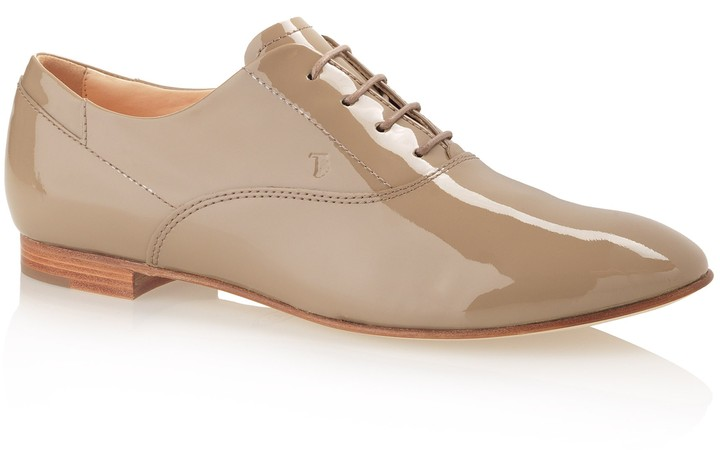 Tod's Lace-Up Patent Leather Shoes