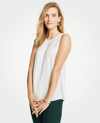 Ann Taylor Petite Pleat Front Shell