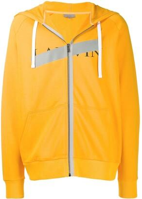 Lanvin logo zipped hoodie