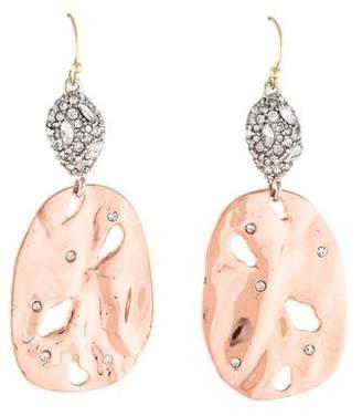 Alexis Bittar Crystal Rocky Disc Drop Earrings