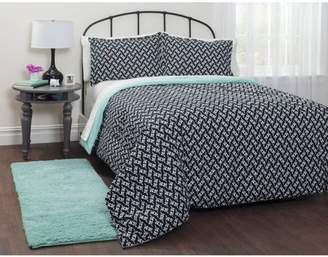 Your Zone your zone motif mint bed in a bag bedding set