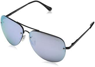 Quay Women's Mirrored Muse QC-000064-BLK/PURP Aviator Sunglasses