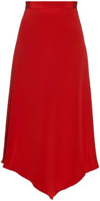 Juan Carlos Obando Diamond-hem silk midi skirt