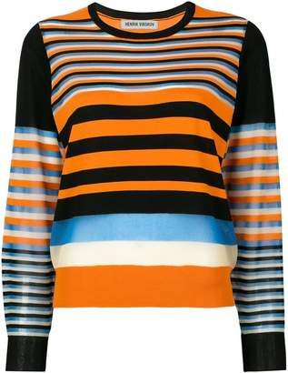 Henrik Vibskov striped round neck sweater