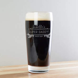 norma&dorothy Super Daddy Etched Beer Glass