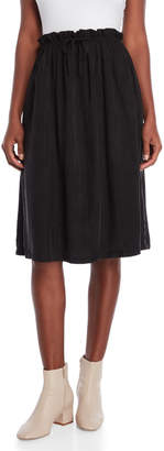 Grey Lab Gathered Waist Midi Skirt