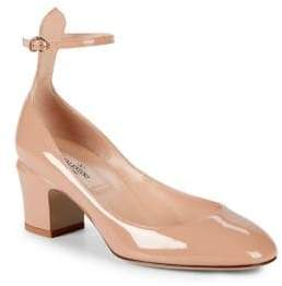 Valentino Tango Leather Ankle-Strap Pumps