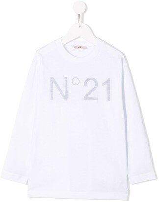 No.21 Kids printed logo sweatshirt
