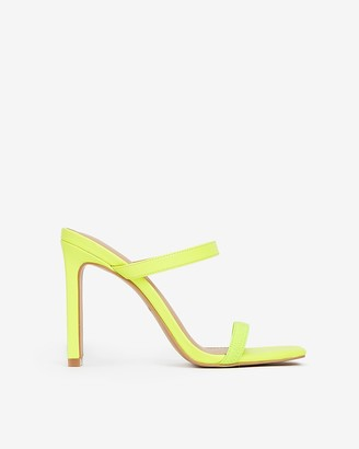 Express Elastic Strap Heeled Sandals