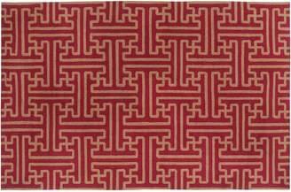 Blue Area Artisan Weaver Cedar Reversible Wool Rug