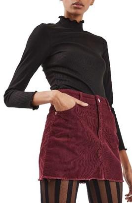 Women's Topshop High Rise Corduroy Miniskirt $60 thestylecure.com