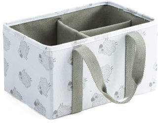 Shelby Sheep Fabric Diaper Caddy