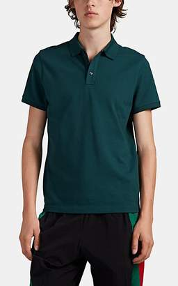 Moncler Men's Logo-Detailed Cotton Piqué Polo Shirt - Green