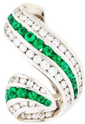 Charles Krypell 18K Diamond & Emerald Pendant white 18K Diamond & Emerald Pendant