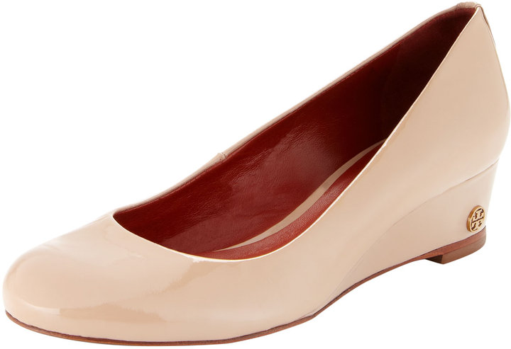 Tory Burch Annelise Patent Leather Low-Wedge Pump