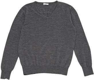 Balmain Grey Wool Knitwear
