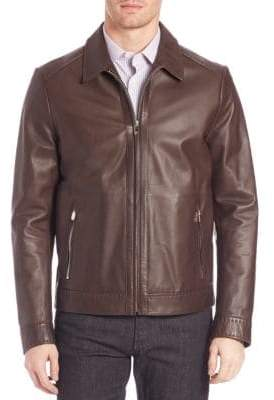Corneliani Leather Bomber Jacket