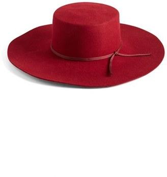 Women's Brixton 'Buckley' Floppy Wool Hat - Red $88 thestylecure.com