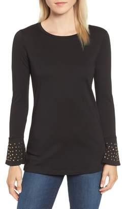 MICHAEL Michael Kors Michael Kors Flare Cuff Studded Shirt