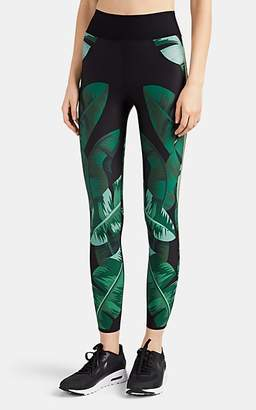 ULTRACOR Women's Sprinter Palm-Leaf-Print Leggings - Green