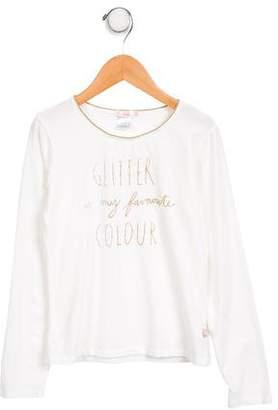 Billieblush Girls' Graphic Long Sleeve T-Shirt