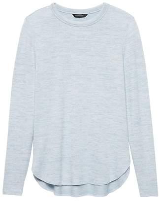 Banana Republic Luxespun Curved Hem T-Shirt