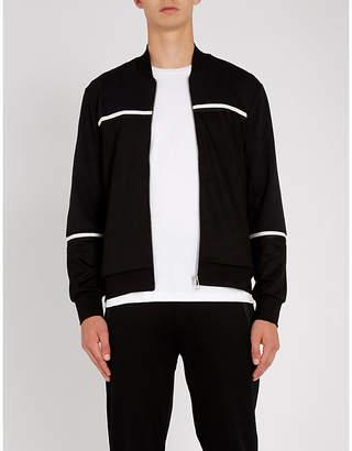 Paul Smith Contrast-stripe woven track jacket