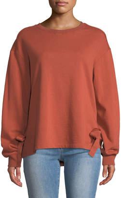 Velvet Heart Micheline Tie-Side Sweatshirt