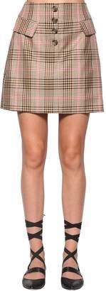 Baum und Pferdgarten Check Cotton Blend Mini Skirt
