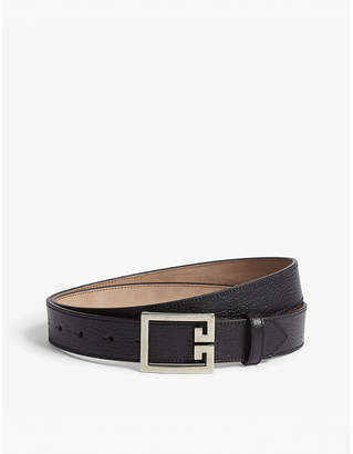 Givenchy Logo grained leather belt
