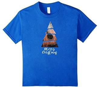 Novelty Christmas Guitar T-shirt - Christmas Tree Shape