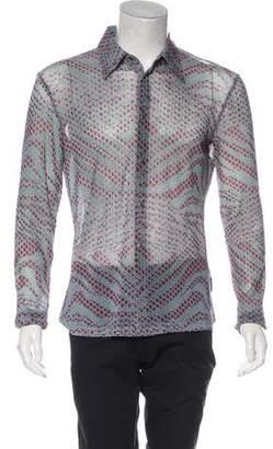 Just Cavalli Fleur De Lis Pattern Shirt