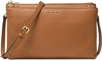 Michael Kors Adele Double Zip Pebble Leather Crossbody